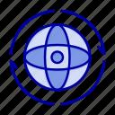 attom, connect, earth, globe, world icon