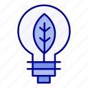bulb, nature, of, power icon