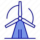 energy, power, turbine, wind icon