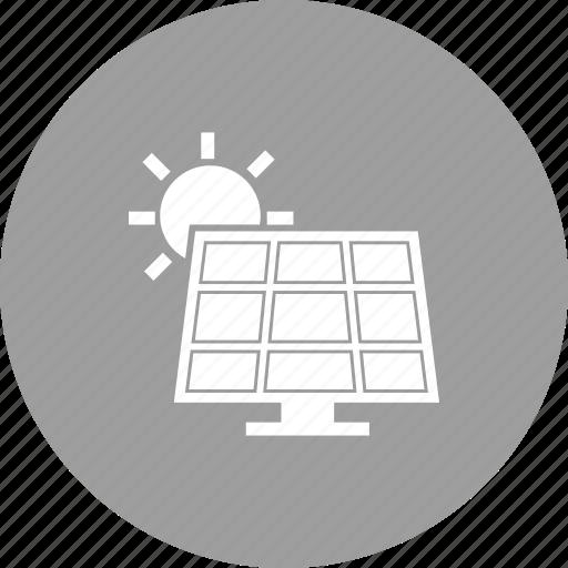 cells, electricity, energy, panel, power, solar, sunlight icon
