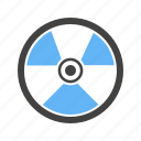 danger, energy, hazard, nuclear, physics, radiation, radioactive icon