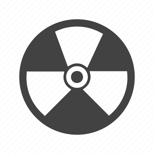 Radioactive, danger, nuclear, energy, radiation, hazard, physics icon