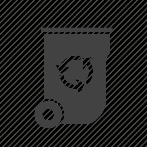 dustbin, energy, recycle, recycle bin, trash, waste, waste bin icon