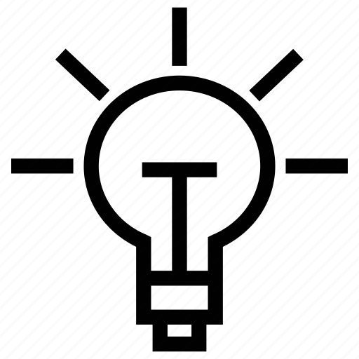 bulb on, electric, electricity, incandescent lamp, light bulb, on icon