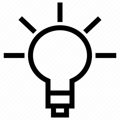 electric bulb, filament, idea, invention, light bulb, lighting, on icon