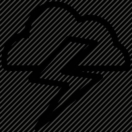 cloud, electrical storm, energy, lightening bolt, thunder, thunderstorm icon