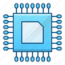 electronics, engineering, hardware, processor, technology icon