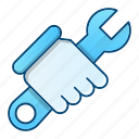 engineering, repair, service, wrench icon