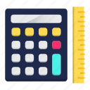 accounting, calculation, digital calculator, engineering, math, school icon