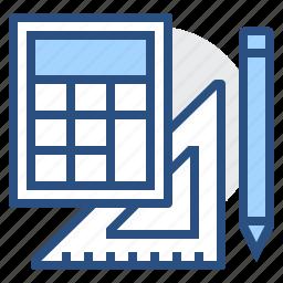 calculate, calculation, design, pen, pencil, tools icon