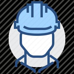 builder, cap, engineer, hat, man, worker icon