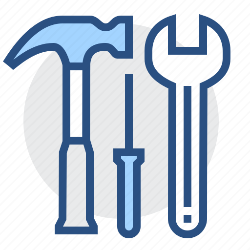 hammer, repair, settings, tools, wrench icon