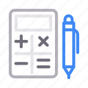 accounting, calculation, calculator, edit, write