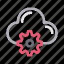 cloud, cogwheel, configure, setting, storage