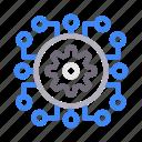 artificial, cogwheel, engineering, gear, intelligence