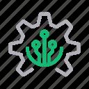 cogwheel, electric, gear, intelligence, setting