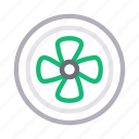 blade, blowing, electric, exhaust, fan icon