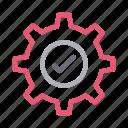 check, cogwheel, complete, gear, setting