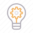 creative, idea, innovation, lamp, light icon
