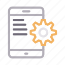 configure, mobile, phone, preference, setting icon