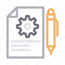 document, engineering, file, project, setting icon