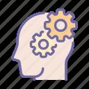 gear, mind, idea, thinking, creative, strategy