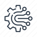 circuit, board, gear, cog, technology, electronics, engineering