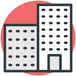 apartments, building, city building, flats, modern flats icon