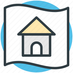 architectural project, blueprint, house plan, map, sketch icon