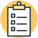 checklist, clipboard, document, form, questionnaire icon