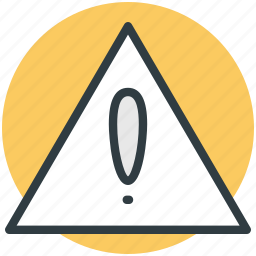 attention, danger sign, exclamation mark, warning notification icon