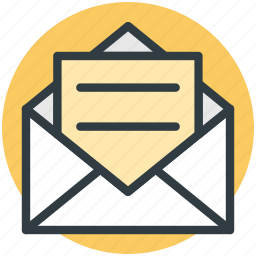 email, email message, letter, newsletter, open mail icon