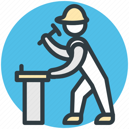 constructor, mechanic, repairer, repairman, worker icon