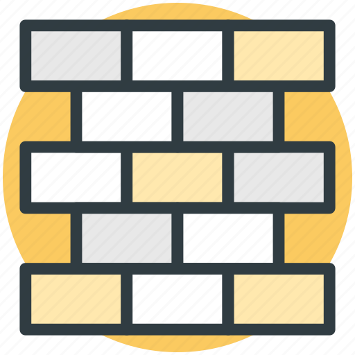 bricks, construction, housing, under construction, wall icon