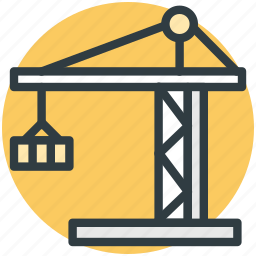building construction, construction crane, construction equipment, construction tower, machinery icon