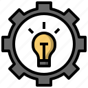 cogwheel, construction, design, edit, gear, idea, light icon