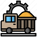 automobile, dump, transport, transportation, truck, vehicle icon