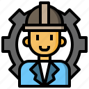 gear, job, man, occupation, profession, user, worker icon