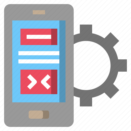cell, communications, electronics, gears, mobilephone, option, smartphone icon