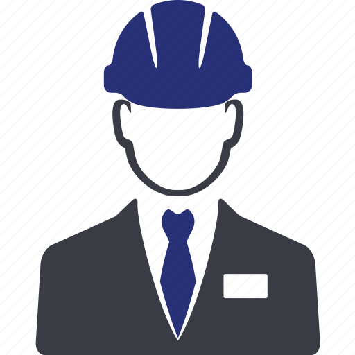avatar, building, construction, engineer, man, manager, portrait icon