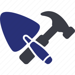 construction, hammer, home, repair, trowel, work, wrench icon