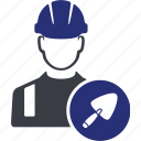 avatar, building, construction, home, house, trowel, worker icon