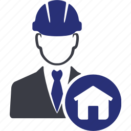 avatar, building, construction, engineer, home, house, man icon