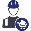 avatar, brick, building, construction, home, house, worker icon