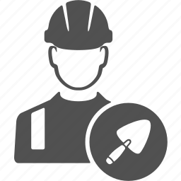 avatar, build, builder, engineer, trowel, user, worker icon