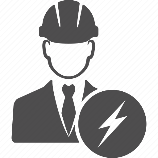 avatar, electric, electricity, engineer, manager, user icon