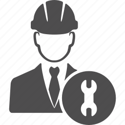avatar, engineer, engineering, machine, repair, user, wrench icon