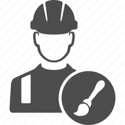 avatar, brush, design, engineer, people, user, worker icon