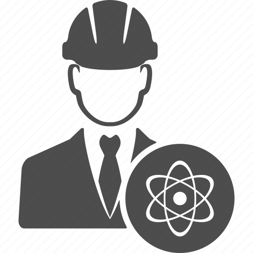 atom, automic, avatar, energy, engineer, manager, user icon