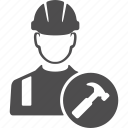 avatar, build, engineer, hammer, repair, users, worker icon